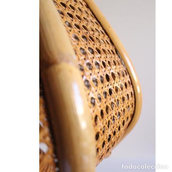 Antigüedades: Antigua lámpara de mimbre - Foto 2 - 135507434