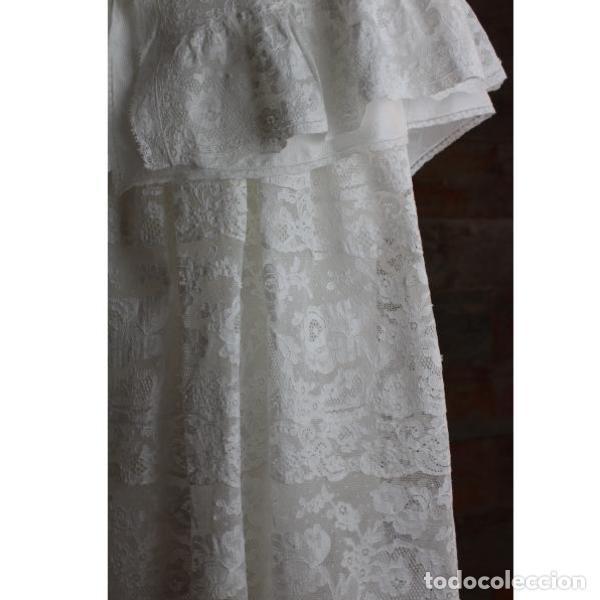 Antigüedades: Precioso traje vestido valencie bautismo - Foto 2 - 135509418