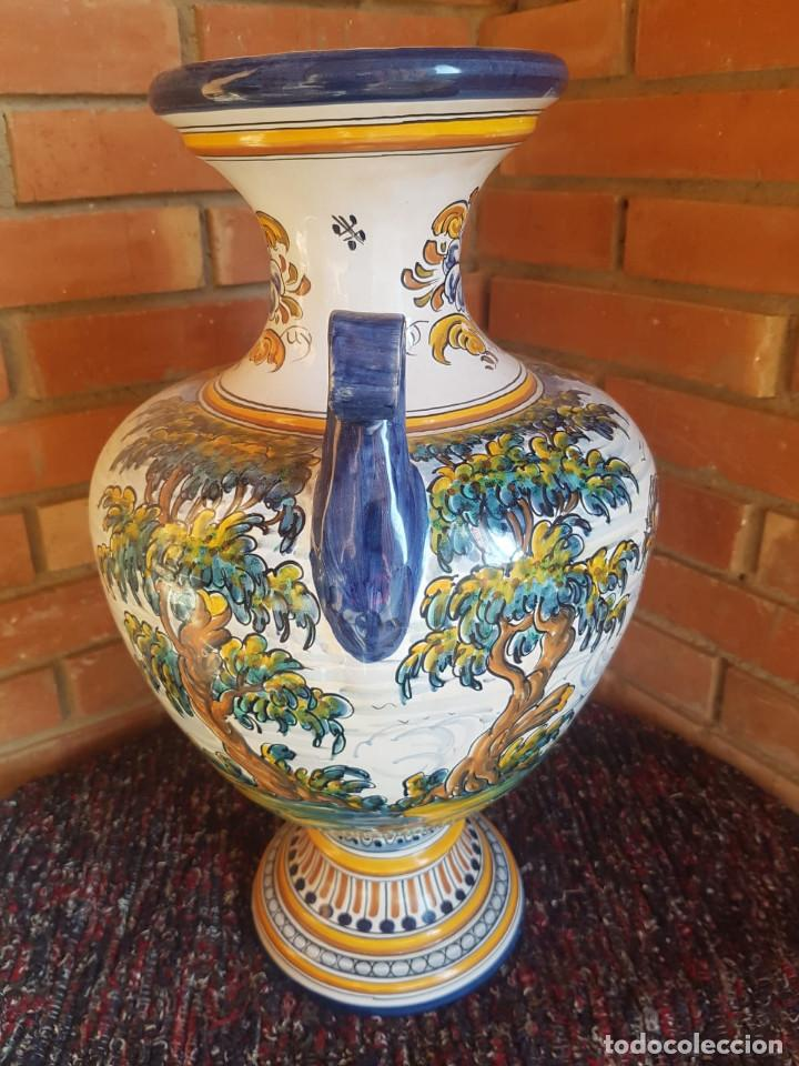 Antigüedades: jarron-anfora ceramica talavera con firma - Foto 3 - 135522918