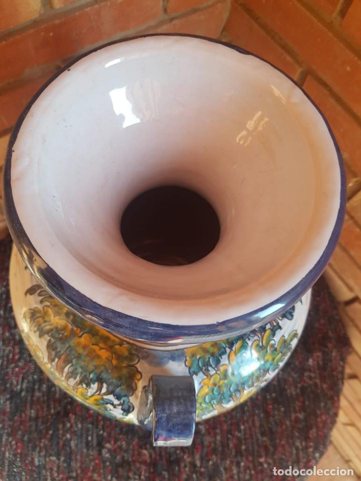 Antigüedades: jarron-anfora ceramica talavera con firma - Foto 4 - 135522918