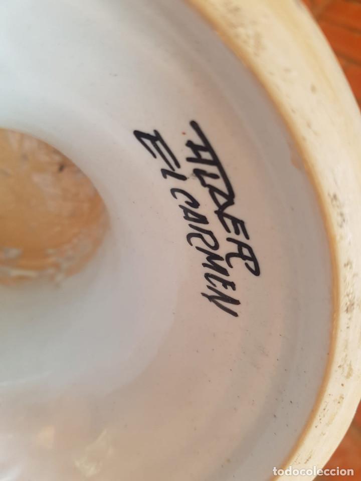 Antigüedades: jarron-anfora ceramica talavera con firma - Foto 6 - 135522918
