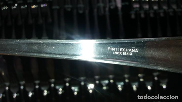 Antigüedades: CUBERTERIA de 113 piezas PINTI ESPAÑA PINTINOX cucharas tenedores cuchillo cucharon acero inoxidable - Foto 6 - 135532578