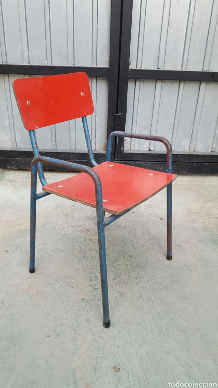 Antigüedades: Conjunto mesas y 6 sillas para niños - Foto 2 - 135542909