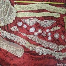 Antigüedades: PIEZAS, PUNTILLAS, ENCAJES, BORDADOS, CENEFAS PPIO XX. Lote 135574083