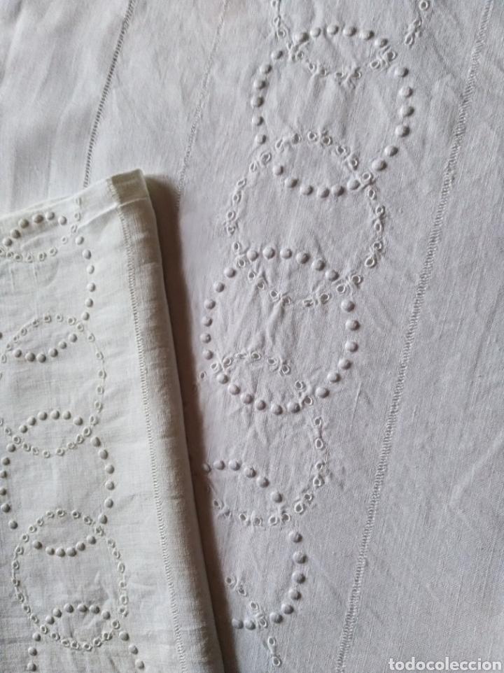 Antigüedades: Juego sábanas hilo completo antiguo - Foto 3 - 135583602
