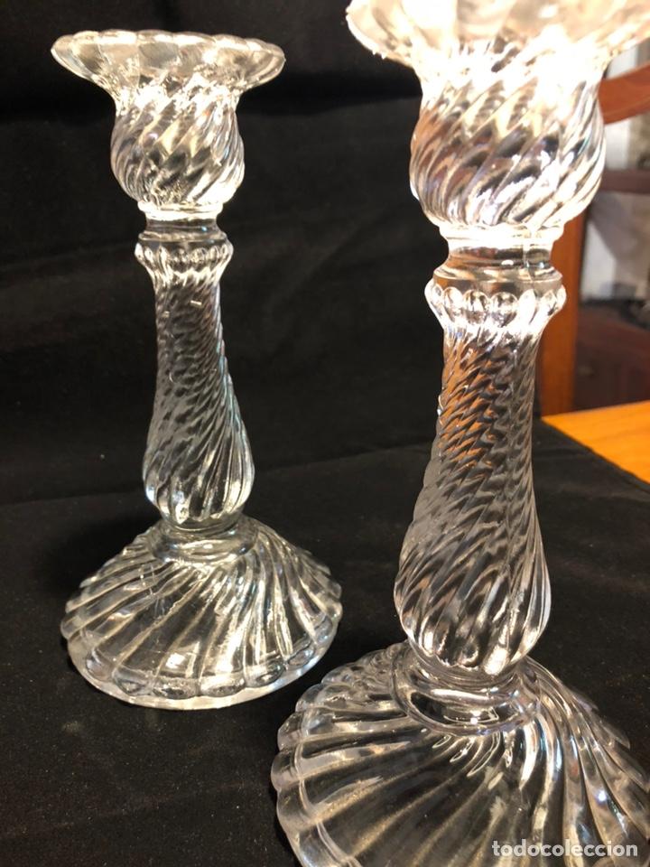 Antigüedades: Portavelas candelabros antiguos - Foto 3 - 135591803