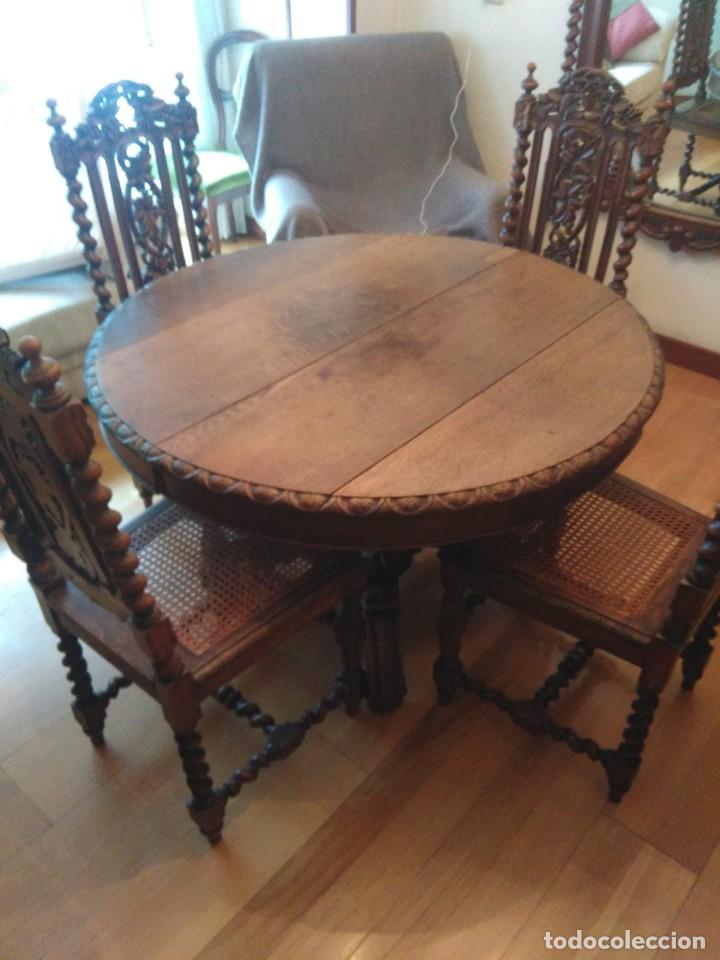 mesa comedor y 4 sillas del siglo xix - Kaufen Antike Tische in ...