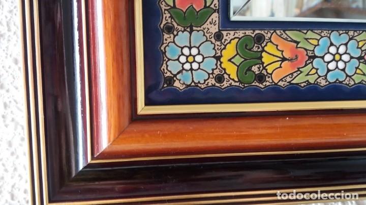 Antigüedades: Espejo de esmalte y madera - Foto 4 - 119693311
