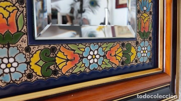 Antigüedades: Espejo de esmalte y madera - Foto 5 - 119693311