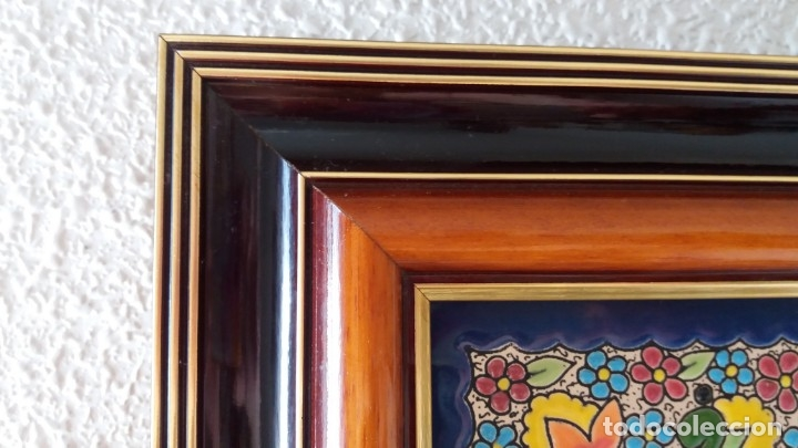Antigüedades: Espejo de esmalte y madera - Foto 7 - 119693311
