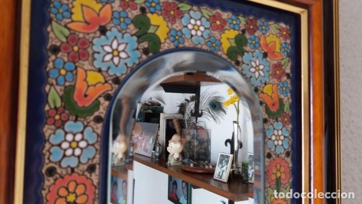 Antigüedades: Espejo de esmalte y madera - Foto 8 - 119693311