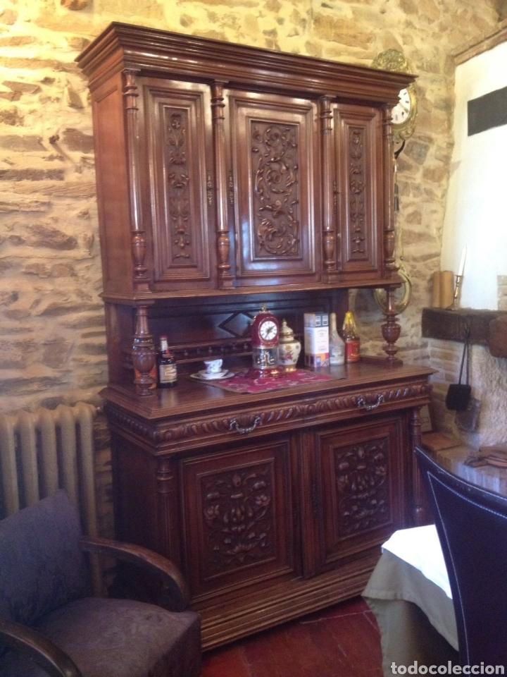 ANTIGUO MUEBLE APARADOR NOGAL (Antigüedades - Muebles Antiguos - Aparadores Antiguos)