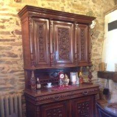Antigüedades: ANTIGUO MUEBLE APARADOR NOGAL. Lote 135618595