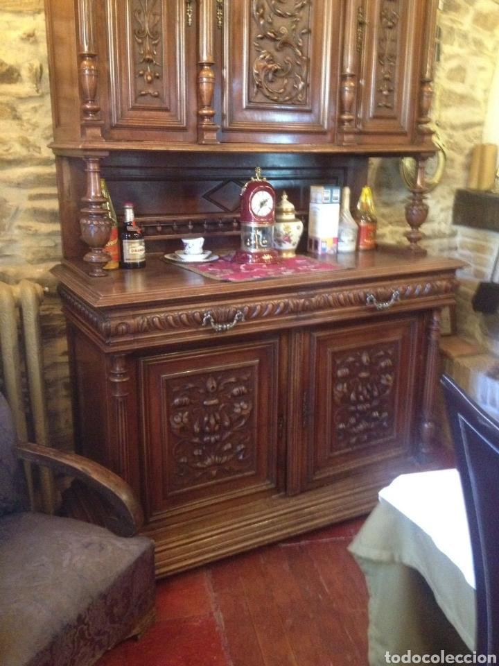 Antigüedades: Antiguo mueble aparador nogal - Foto 2 - 135618595
