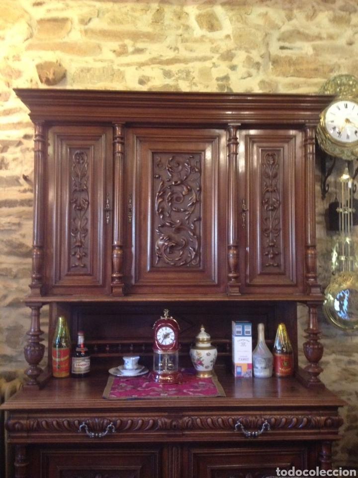Antigüedades: Antiguo mueble aparador nogal - Foto 3 - 135618595
