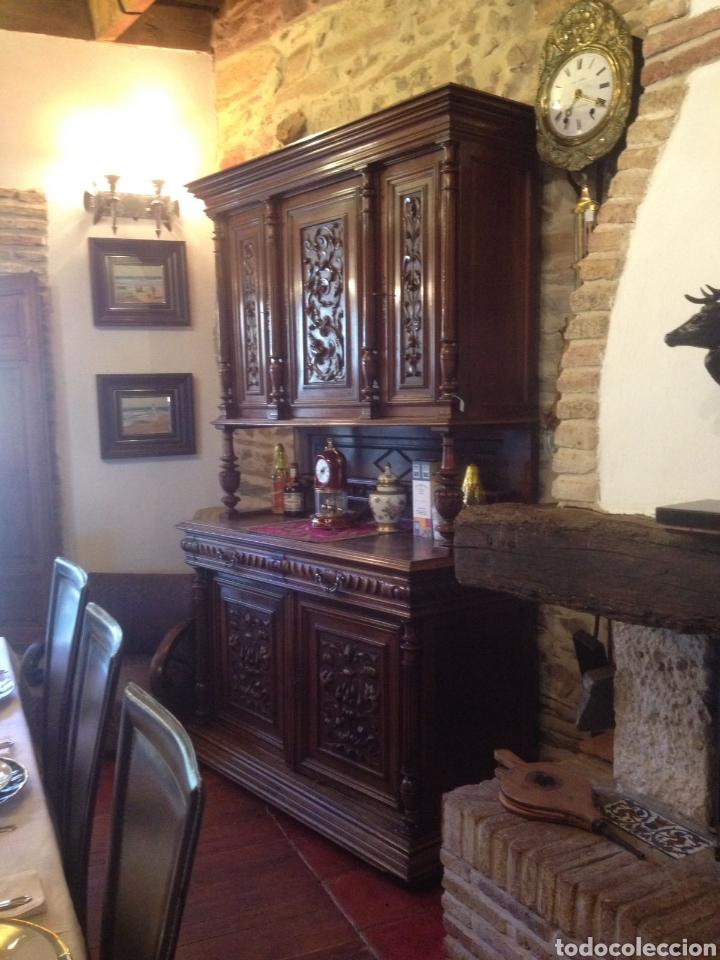 Antigüedades: Antiguo mueble aparador nogal - Foto 4 - 135618595