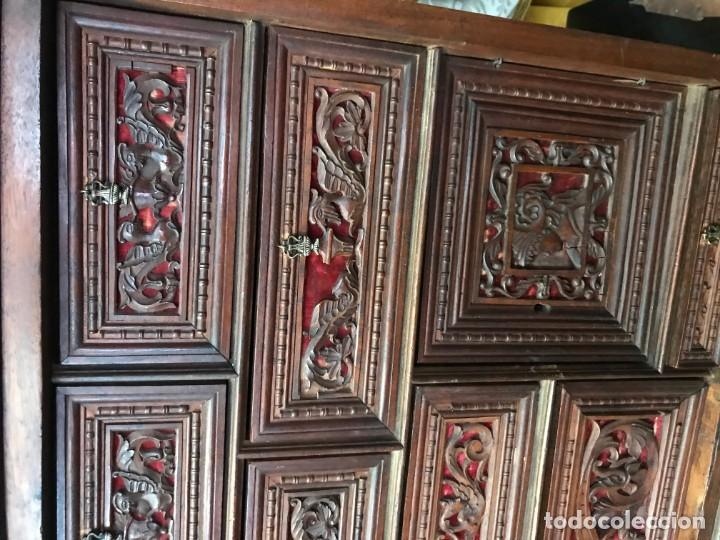 Antigüedades: Magnifico bargueño renacimiento español - Foto 7 - 135620662