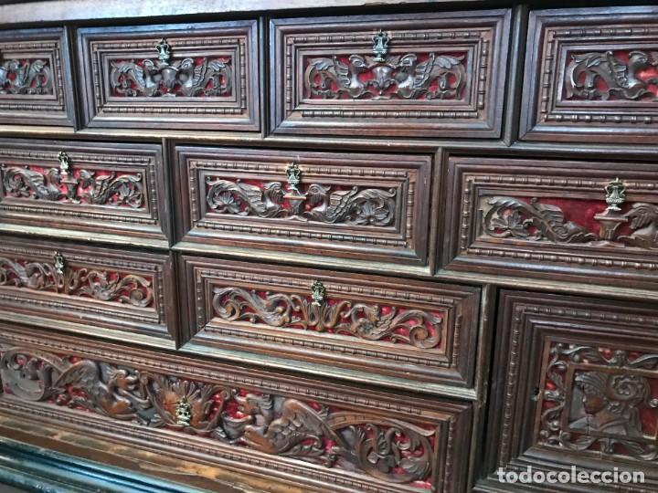 Antigüedades: Magnifico bargueño renacimiento español - Foto 8 - 135620662