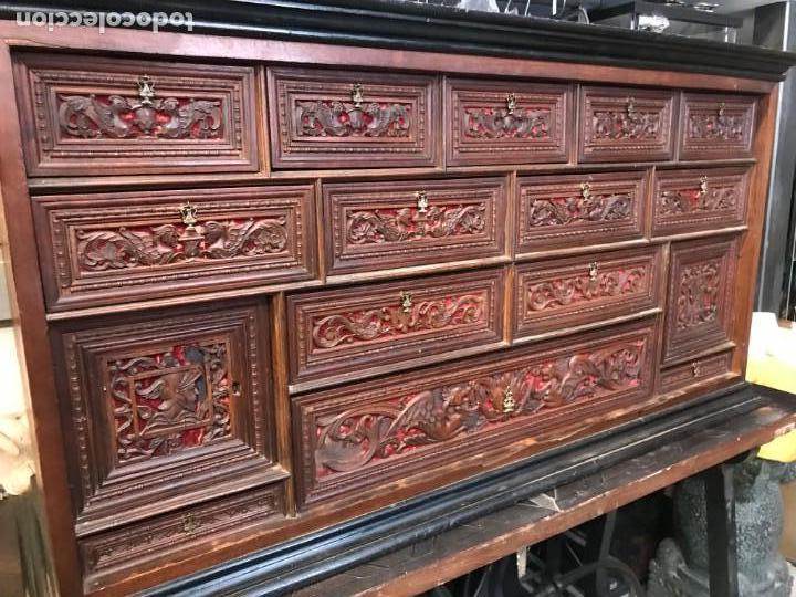 MAGNIFICO BARGUEÑO RENACIMIENTO ESPAÑOL (Antigüedades - Muebles Antiguos - Bargueños Antiguos)