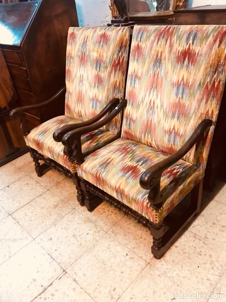 Antigüedades: Pareja de sillones. - Foto 5 - 135636169
