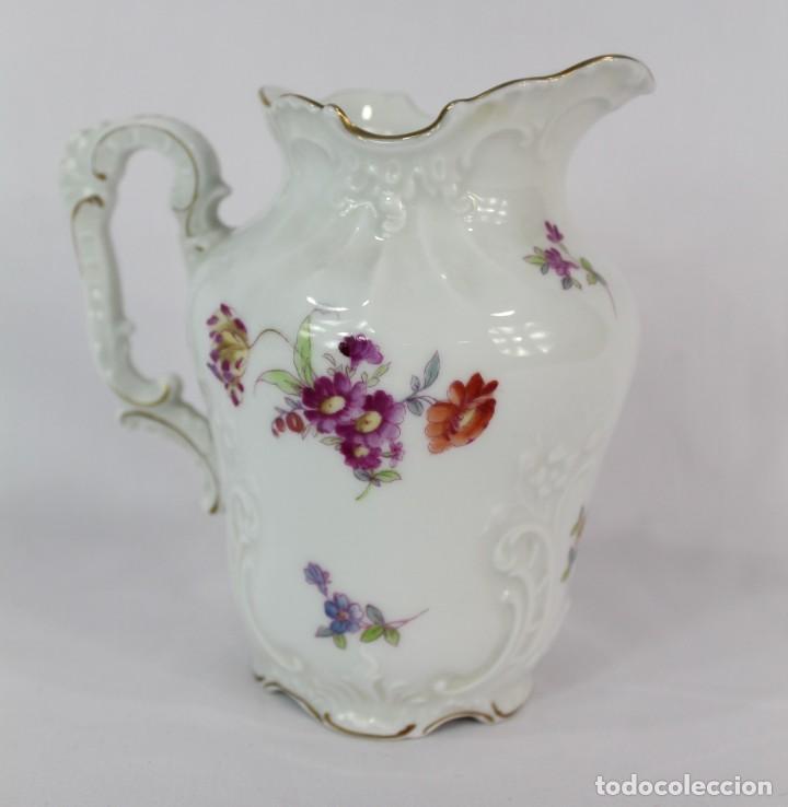 Antigüedades: Lechera numerada y sellada porcelana alemana pps s XX - Foto 3 - 135644563