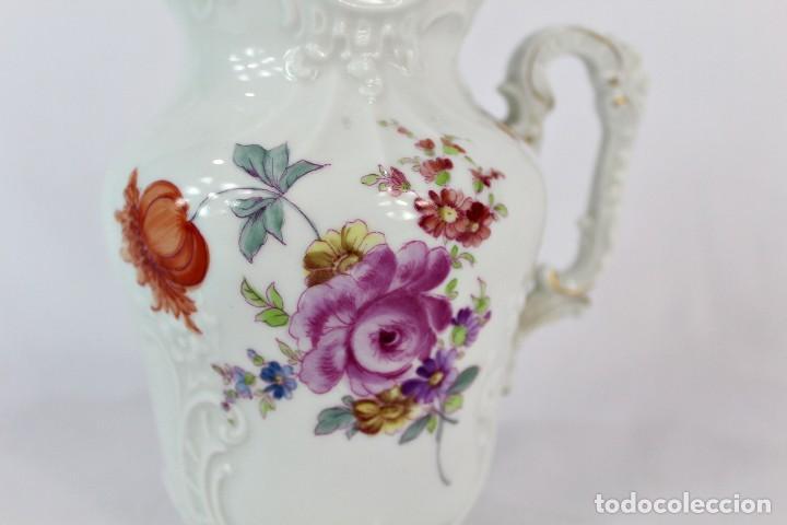 Antigüedades: Lechera numerada y sellada porcelana alemana pps s XX - Foto 4 - 135644563