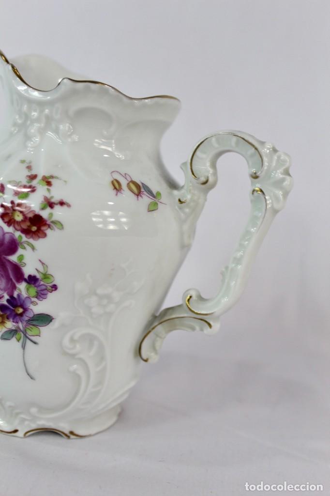 Antigüedades: Lechera numerada y sellada porcelana alemana pps s XX - Foto 5 - 135644563