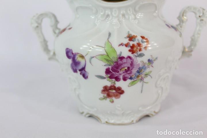 Antigüedades: Lechera numerada y sellada porcelana alemana pps s XX - Foto 2 - 135644651