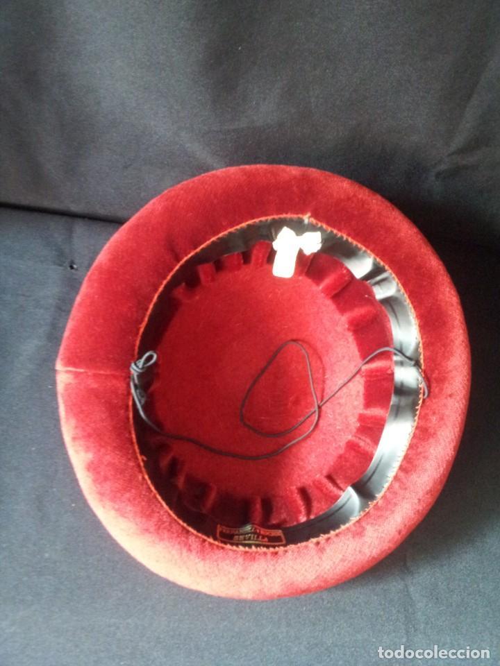 8dd834d02bb56 sombrero calañes o bandolero sevillano color ro - Comprar Sombreros ...