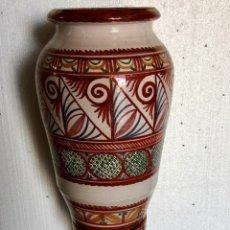Antigüedades: GRAN JARRON DE REFLEJOS METALICOS FIRMADO. Lote 135653055