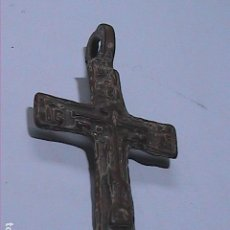 Antigüedades: CRUCIFIJO PECTORAL MEDIEVAL TARDÍO EN BRONCE. S.XV-XVI.. Lote 135671543