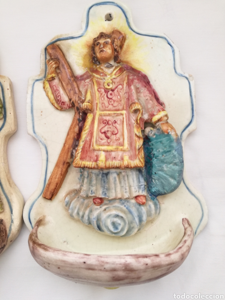 Antigüedades: Tres Antiguas Benditeras V. Espinosa. - Foto 3 - 172343647