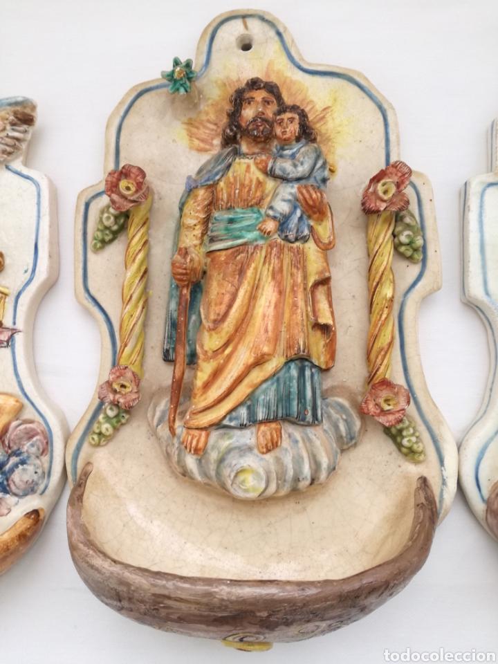 Antigüedades: Tres Antiguas Benditeras V. Espinosa. - Foto 4 - 172343647