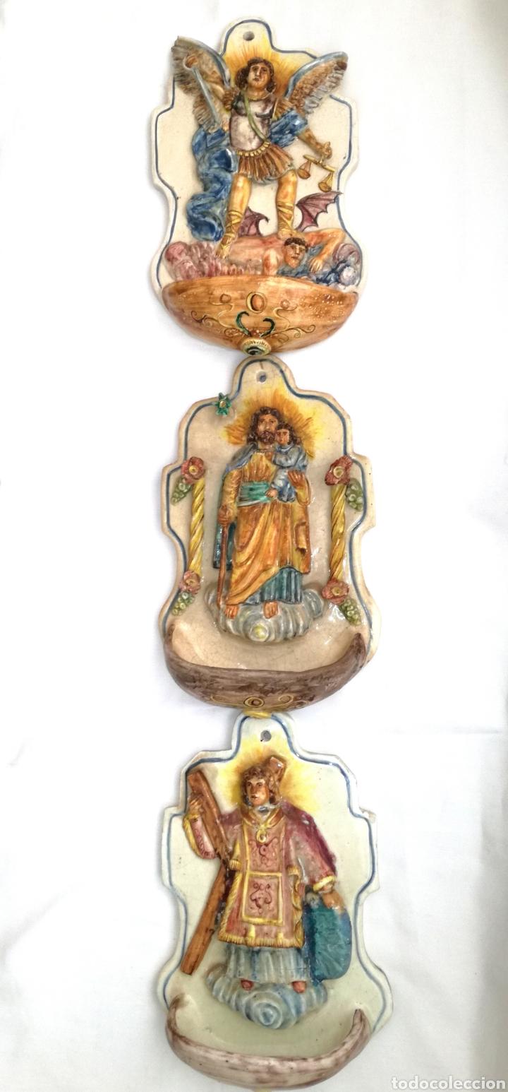 Antigüedades: Tres Antiguas Benditeras V. Espinosa. - Foto 5 - 172343647
