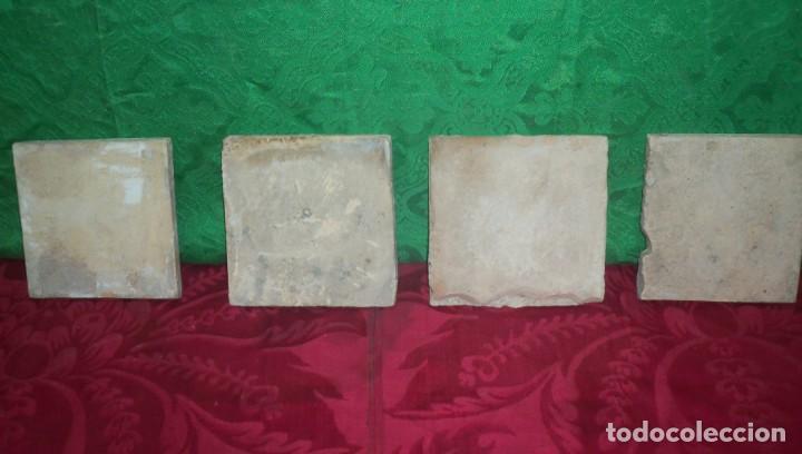 Antigüedades: AZULEJOS CATALANES POLICROMADOS SG XVII - XVIII - Foto 6 - 135711455