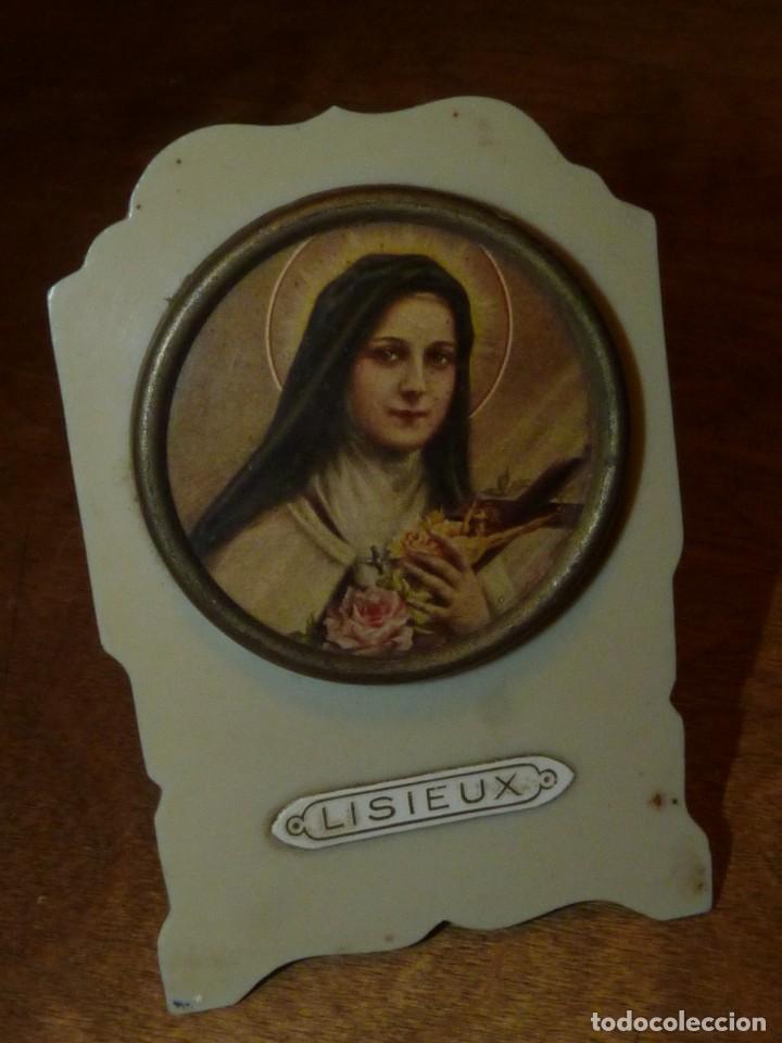 CURIOSA PLACA MEMORIA SANTA TERESA DE LISIEUX 1873 - 1897 INTERESANTE PIEZA AÑOS 50 (Antigüedades - Religiosas - Escapularios Antiguos)