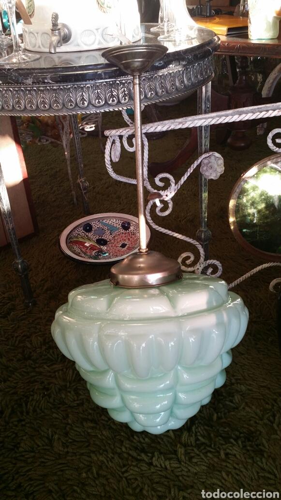 Antigüedades: Lámpara de techo opalina Circa 1930 - Foto 3 - 135749565