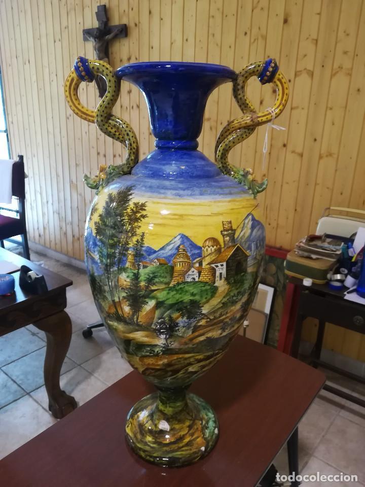 JARRON DE LOZA DE FAENZA (Antigüedades - Porcelanas y Cerámicas - Otras)