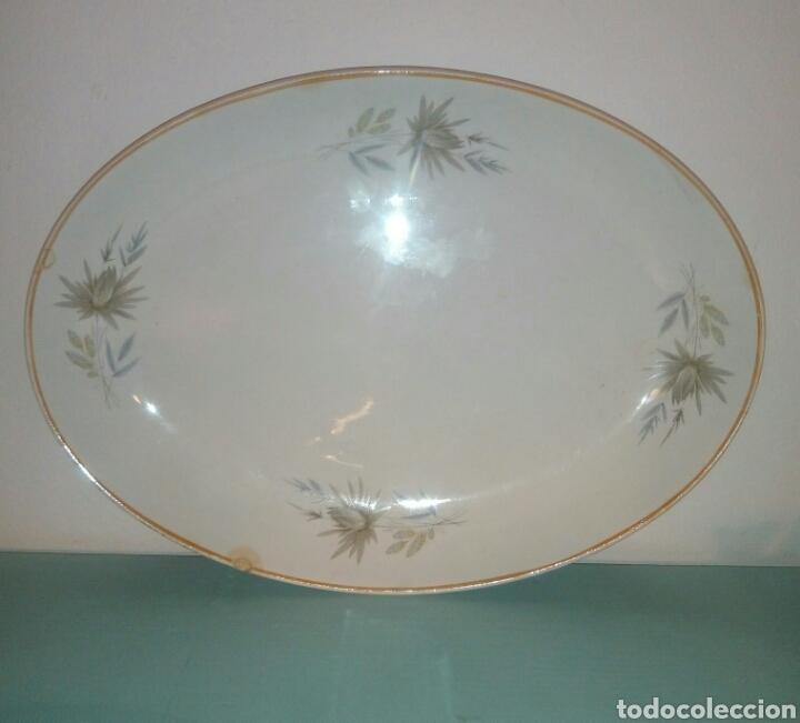 FUENTE BANDEJA PLATO PORCELANA SAN CLAUDIO (Antigüedades - Porcelanas y Cerámicas - San Claudio)
