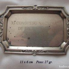 Antigüedades: BANDEJITA DE PLATA SELLADA 1973 TENERIFE ANESTESIA. Lote 135807950