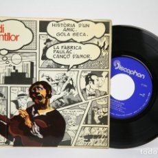Discos de vinilo: DISCO EP DE VINILO - OVIDI MONTLLOR / HISTORIA D' UN AMIC... - DISCOPHON, 1969 - FOLLETO CANCIONES. Lote 135808066