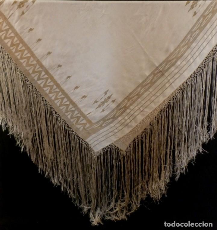 Antigüedades: ANTIGUO MANTÓN DE SEDA ART DECO - PRINCIPIOS S.XX - Foto 3 - 135812074