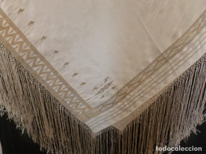 Antigüedades: ANTIGUO MANTÓN DE SEDA ART DECO - PRINCIPIOS S.XX - Foto 4 - 135812074
