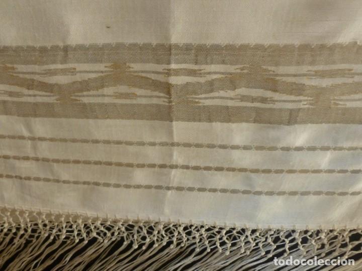 Antigüedades: ANTIGUO MANTÓN DE SEDA ART DECO - PRINCIPIOS S.XX - Foto 6 - 135812074