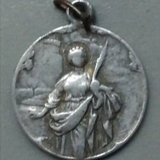 Antigüedades: MEDALLA RELIGIOSA ANTIGUA SANTA BARBARA PATRONA ARTILLERÍA / 20 X 23 CM. Lote 135816237
