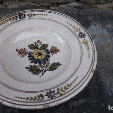 Antigüedades: PLATO DE CERÁMICA REPRODUCCIÓN S XVIII. Lote 135822518