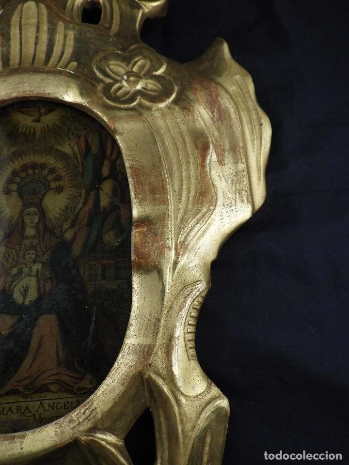 Antigüedades: CORNUCOPIA VIRGEN DE MONSERRAT IMAGEN EN CRISTAL S. XVIII - Foto 5 - 135825814