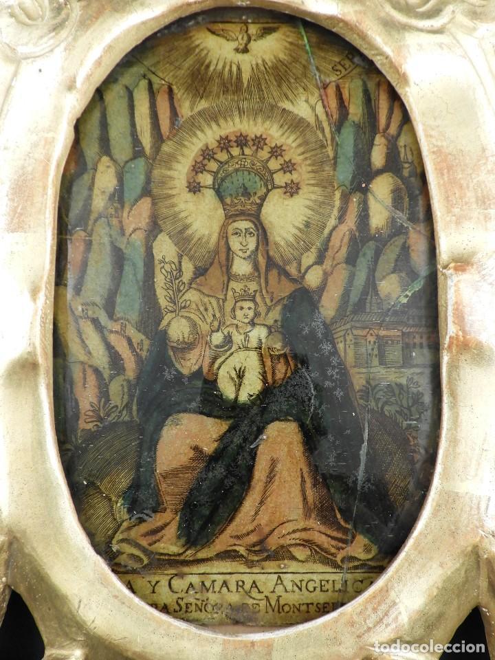 Antigüedades: CORNUCOPIA VIRGEN DE MONSERRAT IMAGEN EN CRISTAL S. XVIII - Foto 7 - 135825814