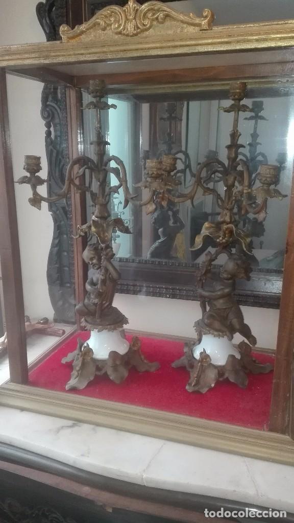 CANDELABROS DEL SIGLO XIX. (Antigüedades - Iluminación - Candelabros Antiguos)