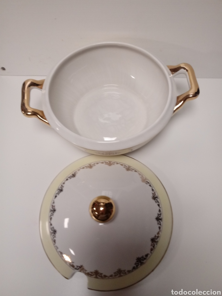 Antigüedades: Antigua sopera de ceramica - Foto 2 - 135828879